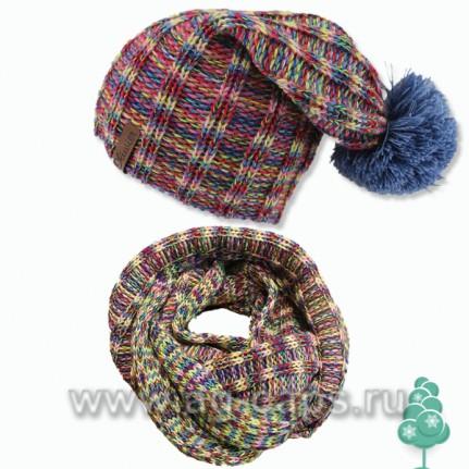 Комплект детский Oliwier- 4 pory roku (одинарная утеплена флисом на ушах+снуд(шарф-хомут))