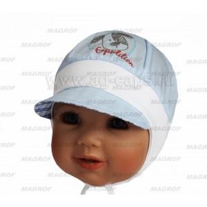 Шапка детская MAGROF BIS W16 K-2027 (ситец с трикотажной вставкой) - Фото