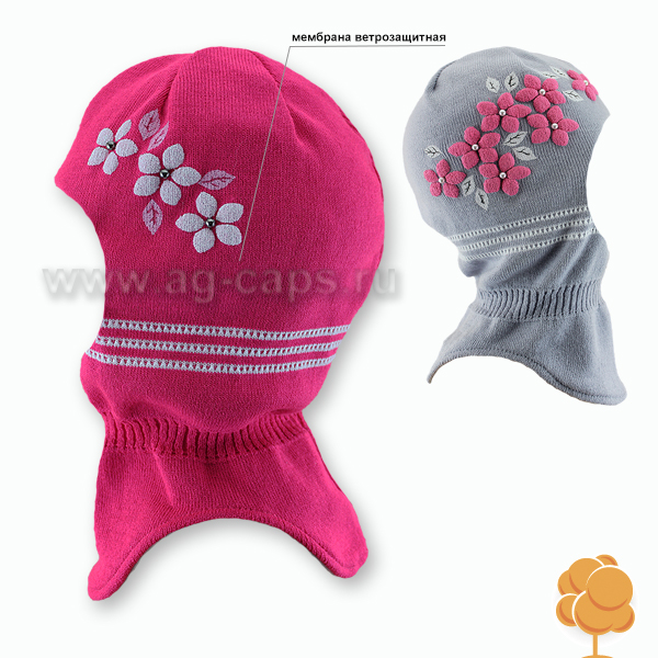 Шапка-шлем детская AGBO W17 1196 KENDRA (на подкладке) - Фото