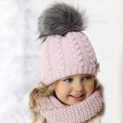 Комплект детский AJS 418 36-364 (на подкладке)+(снуд одинарный восьмерка) - Фото