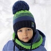 Комплект детский AJS 418 36-374 (хлопковый флис Футтер)+(снуд одинарный восьмерка) - Фото