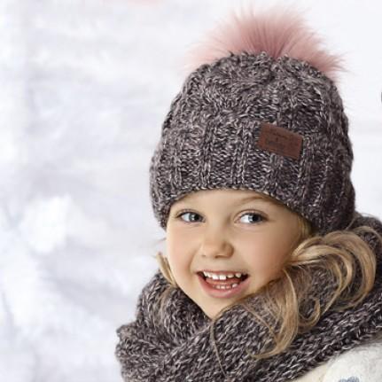 Комплект детский AJS 418 36-402 (хлопковый флис Футтер)+(снуд одинарный восьмерка) - Фото