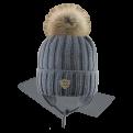 Натуральный помпон шапки и комплекты - Фото