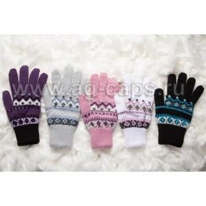 Перчатки детские MARGOT BIS-SNEZYNKA (двойная вязка) - Фото