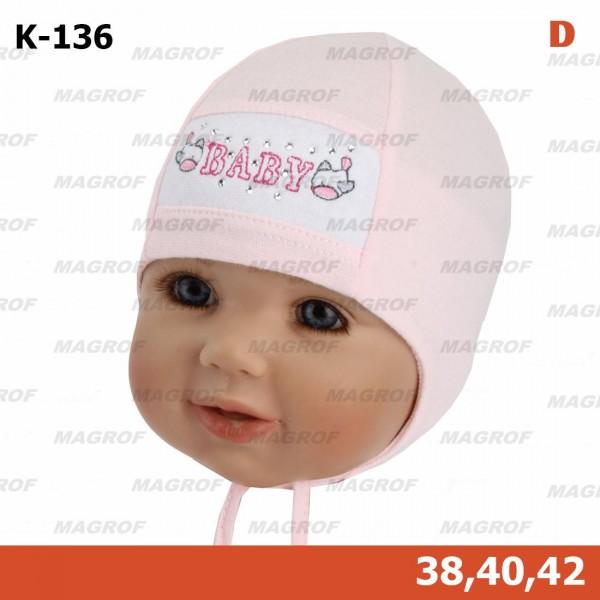 Шапка детская MAGROF kod-136 M+D (одинарный трикотаж)
