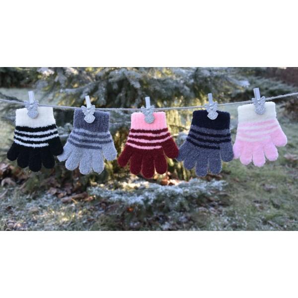 Перчатки детские MARGOT BIS 419 PUCHATKI STRIPE (одинарные) - Фото