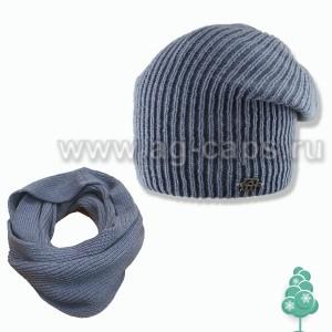 Комплект детский AGBO Z17 577 DORIAN (на флисе+снуд(шарф хомут)) - Фото