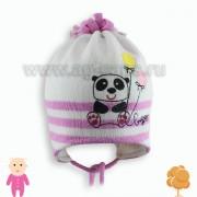 Шапка детская AGBO 804 PANDA (на подкладке) - Фото