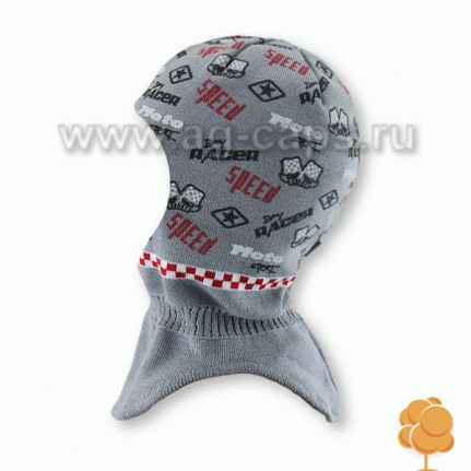 Шапка-шлем детская AGBO W17 1106 WIT (на подкладке) - Фото