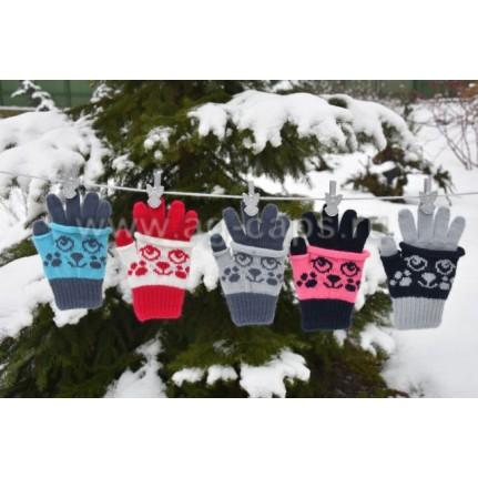 Перчатки детские MARGOT BIS-W17 HARIET (двойные на пальцах одинарные) - Фото