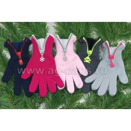 Перчатки детские MARGOT BIS-W17 ZIPPER (на флисе на пальцах одинарные) - Фото