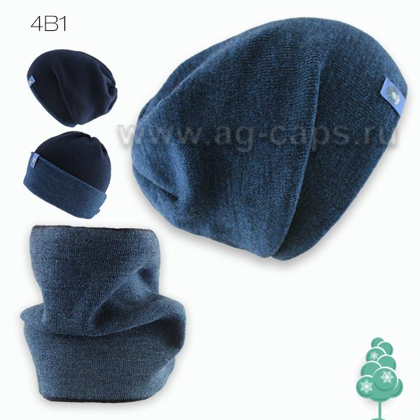 Комплект детский 4в1 AJS J17 34-537 (двойная вязка+снуд двойной) - Фото