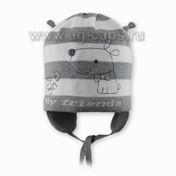 Шапка детская GRANS W18 KU-349-BAW-D kat.UA10 [42-44] (на подкладке) - Фото