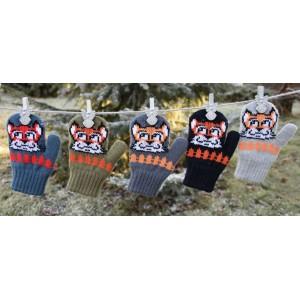 Варежки детские MARGOT BIS 418 FOX (двойные со шнурком) - Фото