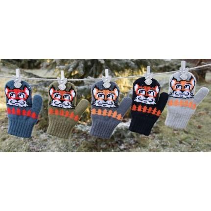 Варежки детские MARGOT BIS 419 FOX (двойные со шнурком) - Фото