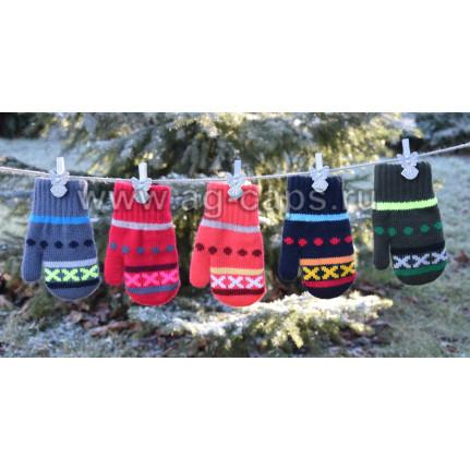 Варежки детские MARGOT BIS 418 IXIK (двойные со шнурком) - Фото