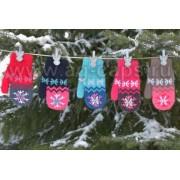 Варежки детские MARGOT BIS 418 SNOWY (двойные со шнурком) - Фото