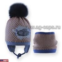 Комплект детский AGBO 418 1696 RAWEL (ISOSOFT+снуд двойной)