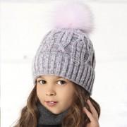 Шапка детская AJS 418 36-388  (хлопковый флис Футтер) - Фото