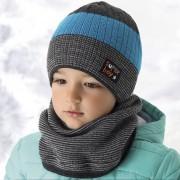Комплект детский AJS 418 36-370 (подкладка флис)+(снуд двойная вязка) - Фото