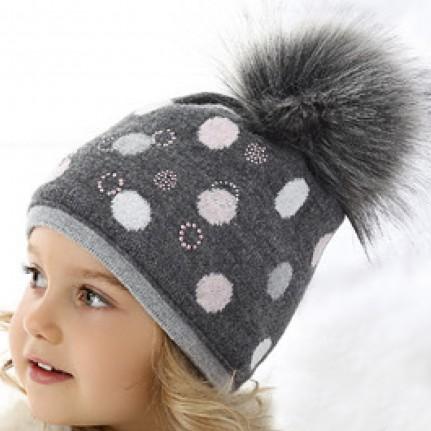 Шапка детская AJS 418 36-365 (хлопковый флис Футтер) - Фото