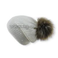 Шапка женская SELFIE CZD 3 REZINKA ROSSIP 418104 PAL-Y (на флисе)+(иск. помпон)
