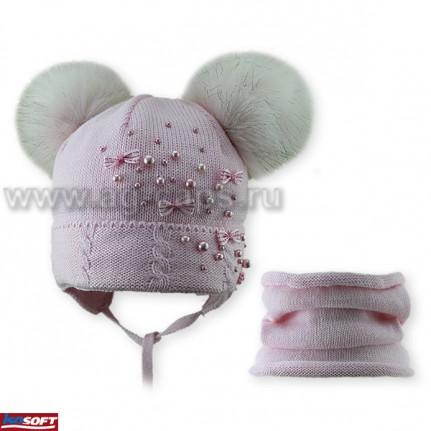 Комплект детский AMBRA 418 B-12  (ISOSOFT)+(снуд одинарный) - Фото