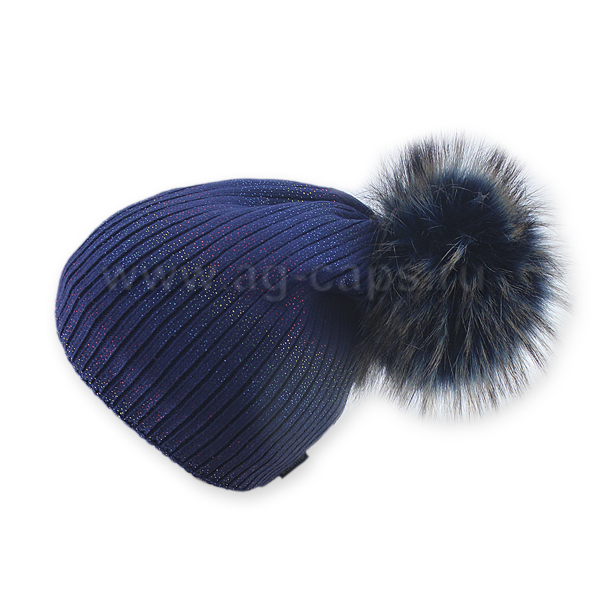 Шапка женская SELFIE CZD 3 REZINKA ROSSIP RGB-D-BLUE 418119 PAL-Y (на флисе) - Фото