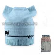 Шапка детская SELFIE CZd 0 CAT 219153 BAW1 (одинарная) - Фото