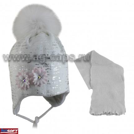Комплект детский AGBO 419 2286 PEONIA (ISOSOFT)+(снуд одинарный) - Фото
