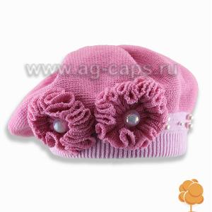 Берет детский AGBO 486 HANIA  (двойная вязка) - Фото