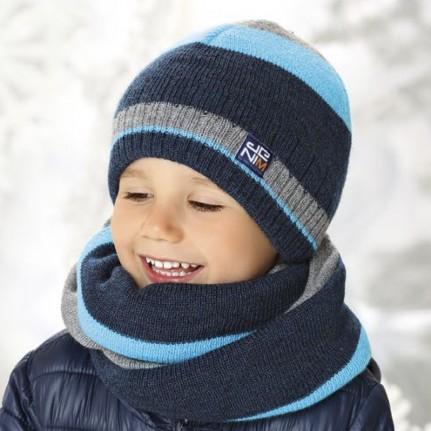 Комплект детский AJS 419 38-541 (хлопковый флисе Футтер)+(снуд одинарный) - Фото