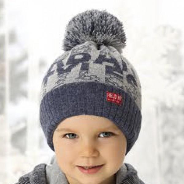 Шапка детская AJS 419 38-479 (на флисе) - Фото