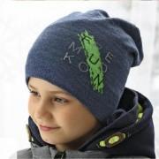 Шапка детская AJS 419 38-598 (хлопковый флис Футтер) - Фото