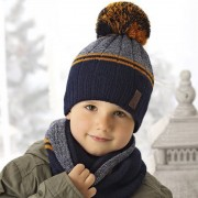 Комплект детский AJS 419 38-520 (двойная вязка)+(снуд двойной) - Фото
