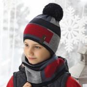 Комплект детский AJS 419 38-583 (хлопковый флисе Футтер)+(снуд двойной) - Фото