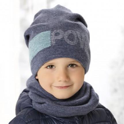 Комплект детский AJS 419 38-514 (хлопковый флисе Футтер)+(снуд двойной) - Фото