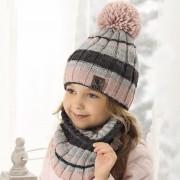 Комплект детский AJS 419 38-509 (двойная вязка)+(снуд двойной) - Фото