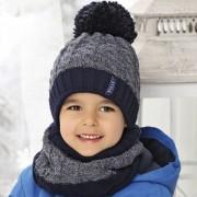 Комплект детский AJS 419 38-531 (на флисе)+(снуд двойной) - Фото