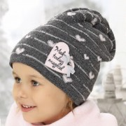 Шапка детская AJS 419 38-452 (хлопковый флис Футтер) - Фото
