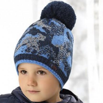 Шапка детская AJS 419 38-528 (хлопковый флис Футтер) - Фото