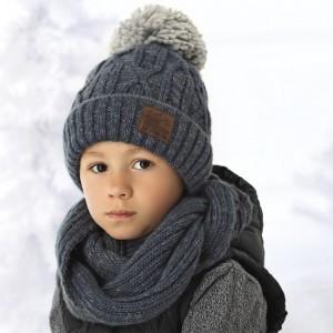 Комплект детский AJS 418 38-530 (на флисе)+(снуд восьмерка) - Фото