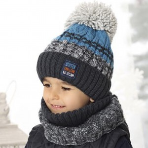 Комплект детский AJS 419 38-534 (хлопковый флисе Футтер)+(снуд одинарный) - Фото