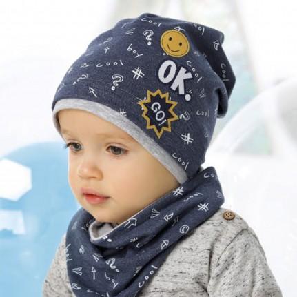 Комплект детский AJS 220 40-070 (одинарный трикотаж+снуд дойной трикотаж) [44-46] - Фото