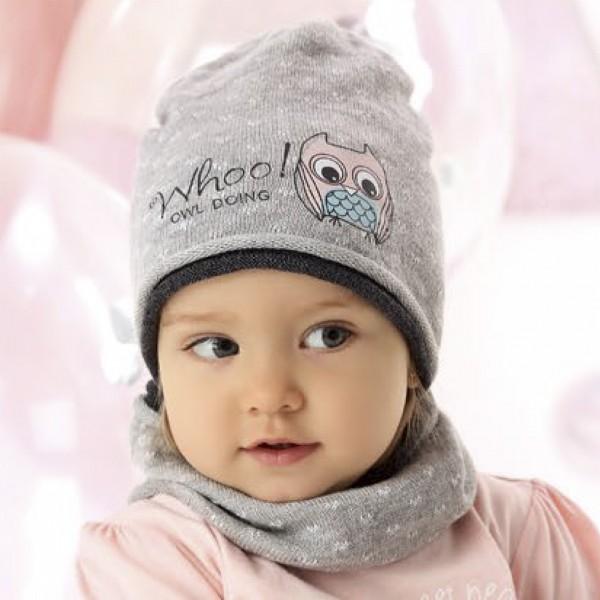 Комплект детский AJS 220 40-034/R (на подкладке+снуд одинарный) - Фото