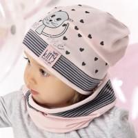 Комплект детский AJS 220 40-037 (одинарный трикотаж+снуд одинарный трикотаж) [48-50]