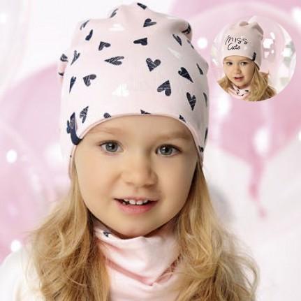 Комплект детский двусторонний AJS 220 40-071 (одинарный трикотаж+снуд одинарный трикотаж) [52-54] - Фото
