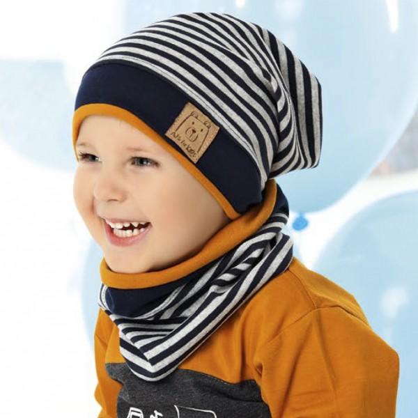 Комплект детский AJS 220 40-112 (одинарный трикотаж+снуд двойной трикотаж) [52-54] - Фото