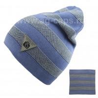 Комплект детский ANPA 220 M-136B (шапка двойная+снуд одинарный)