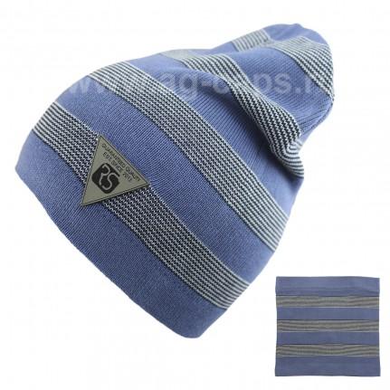 Комплект детский ANPA 220 M-136B (шапка двойная+снуд одинарный) - Фото